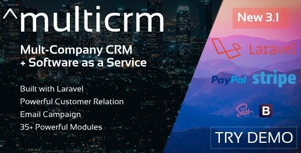 Multicrm v3.1.5 - Multipurpose Powerful Open Source CRM. Customer Relation , Email Campaign