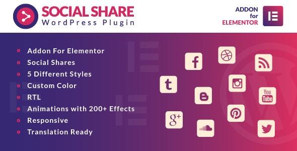 Social Share for Elementor v1.0 – WordPress Plugin
