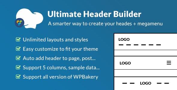 Ultimate Header Builder v1.6.4.1 - Addon WPBakery Page Builder
