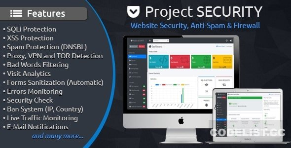 Project SECURITY v4.4 – Website Security, Anti-Spam & Firewall