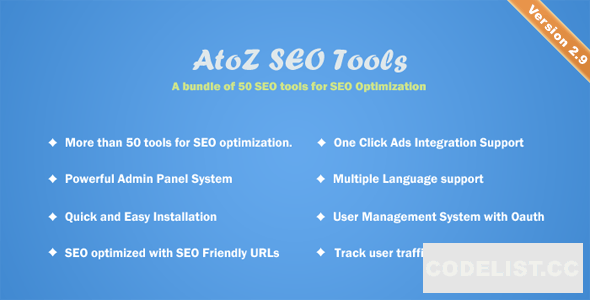AtoZ SEO Tools v3.0 - Search Engine Optimization Tools - nulled