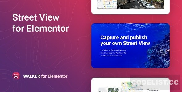 Walker v1.0 - Google Street View for Elementor