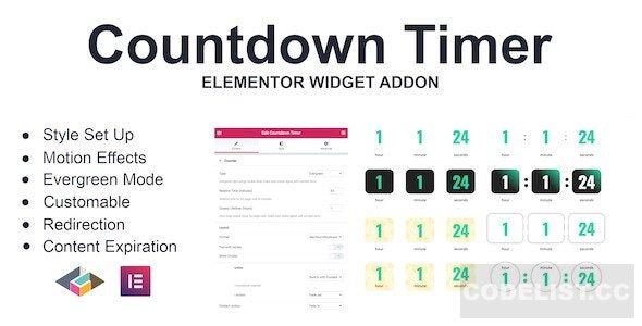 Countdown Timer v1.0.0 - Elementor Page Builder Addon