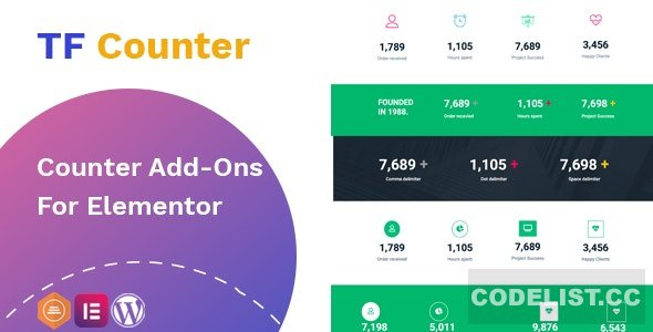 TfCounter v1.0.1 - Counter widget For Elementor