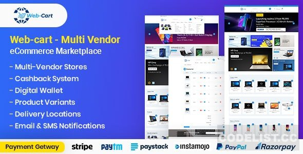 Web-cart v2.14 - Multi Vendor eCommerce Marketplace - nulled