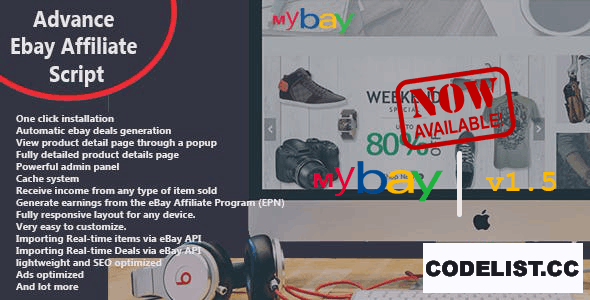 Mybay v1.5 - Fully Automated Advanced eBay Affiliate Script