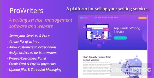 ProWriters v1.5 - Sell writing services online