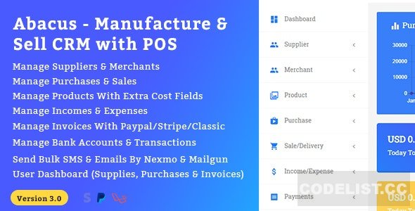 Abacus v3.0 - Manufacture & Sale CRM with POS