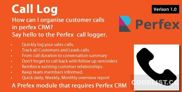 Call Log module for Perfex CRM v1.0