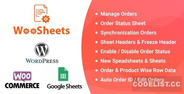 WooSheets v4.3 - Manage WooCommerce Orders with Google Spreadsheet