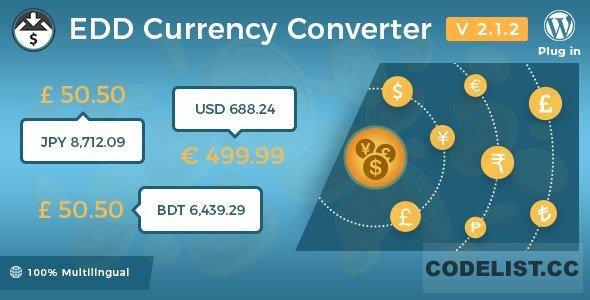 Easy Digital Downloads - Currency Converter v2.1.2
