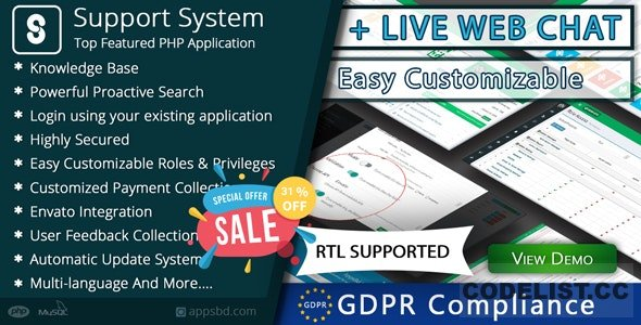 Best Support System v2.2.2 - Live Web Chat & Client Support Desk & Support Ticket Help Centre