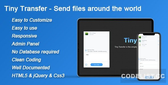 TinyTransfer v1.0 - Send files around the world