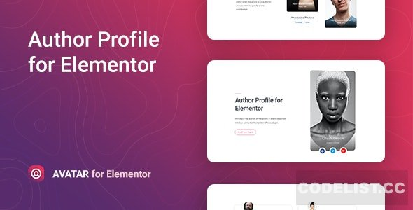 Avatar v1.0.0 - Author Box for Elementor