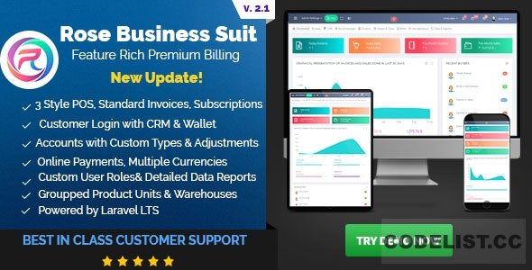 Rose Business Suite v2.1 - Accounting, CRM and POS Software