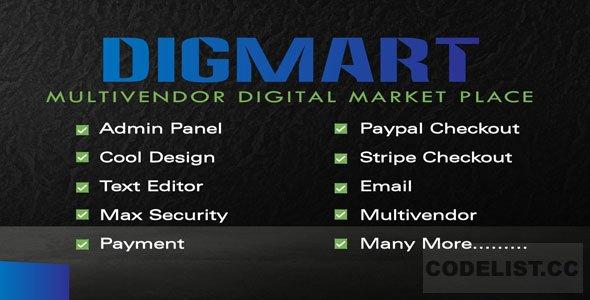 DigMart v3.6.0 - Multivendor Digital MarketPlace PHP