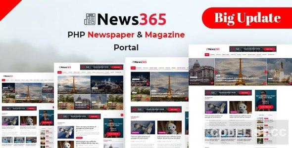 News365 v6 - PHP Newspaper Script Magazine Blog with Video Newspaper