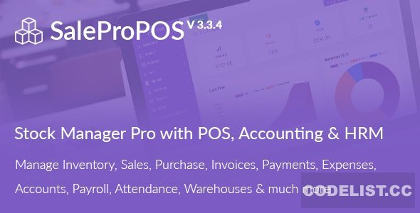 SalePro v3.3.4 - Inventory Management System with POS, HRM, Accounting - nulled