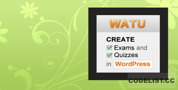 WatuPro v6.4.2 - Premium WordPress Plugin To Create Exams, Tests and Quizzes