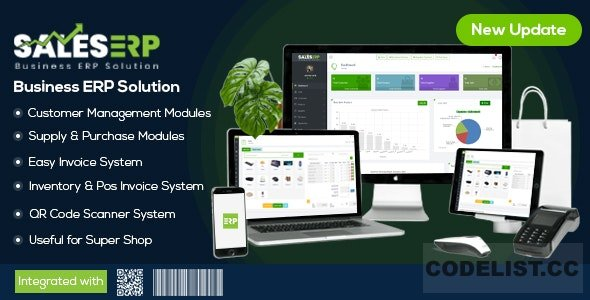 ERP v9.6 – Business ERP Solution / Product / Shop / Company Management - nulled