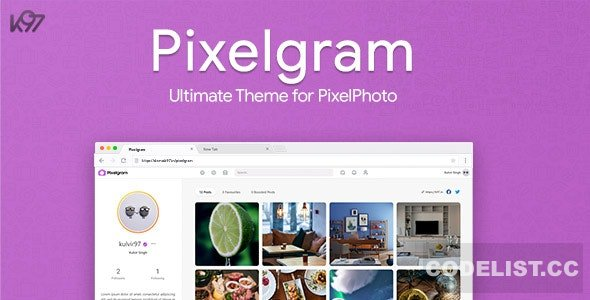 Pixelgram v1.4.1 - The Ultimate PixelPhoto Theme