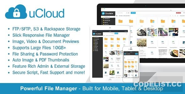 uCloud v2.0.1 - File Hosting Script - Securely Manage, Preview & Share Your Files