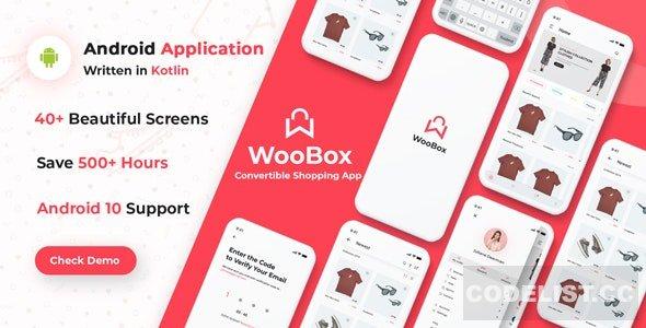 WooBox v14.0 - WooCommerce Android App E-commerce Full Mobile App + kotlin