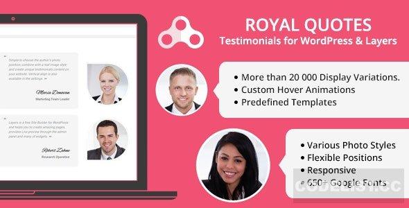 Royal Quotes v1.4.1 - WordPress Testimonials Plugin