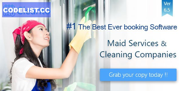 Cleanto v6.5 - Online bookings management system for maid services and cleaning companies