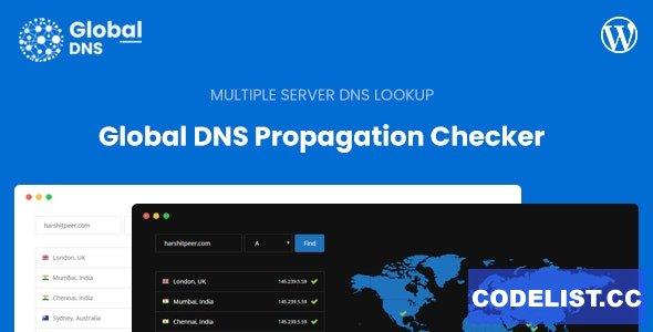 Global DNS v1.3.1 - Multiple Server - DNS Propagation Checker - WP