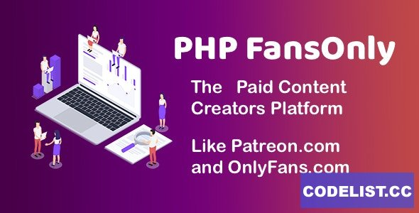 PHP FansOnly Patrons v1.9 - Paid Content Creators Platform - nulled