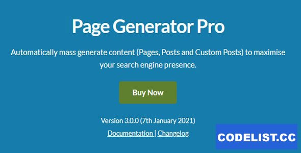 Page Generators Pro v3.0.0 - WordPress Page Builder
