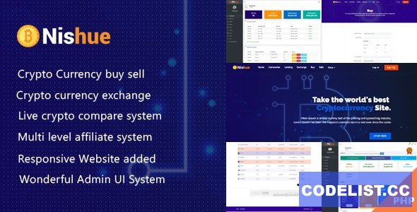 Nishue v3.9 - CryptoCurrency Buy Sell Exchange and Lending with MLM System - nulled