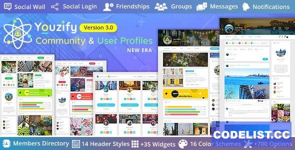 Youzify (formerly Youzer) v3.0.0 - BuddyPress Community & WordPress User Profile Plugin