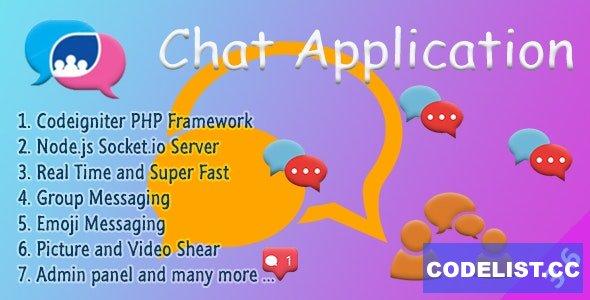 Chat Manager v3.6.5 - Codeigniter ( Socket.io) Node.js