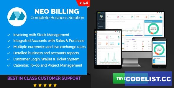 Neo Billing v5.1 - Accounting, Invoicing And CRM Software