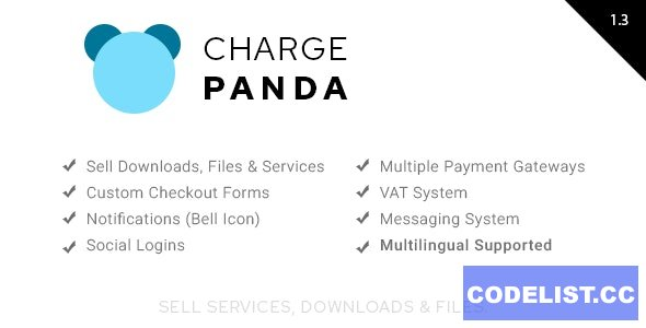 ChargePanda v1.3.0 - Sell Downloads, Files and Services (PHP Script)