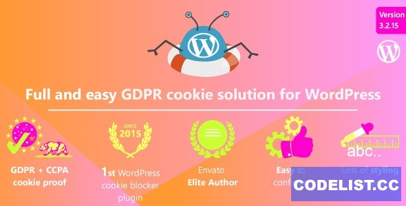 WeePie Cookie Allow v3.2.15 - Easy & Complete Cookie Consent