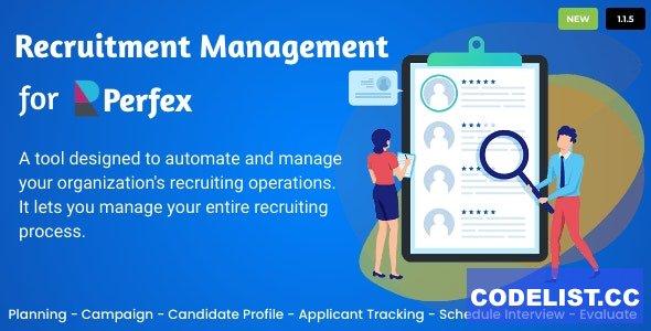 Recruitment Management for Perfex CRM v1.1.5