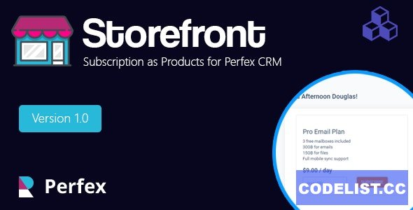 Products and services for Perfex CRM v1.3.1