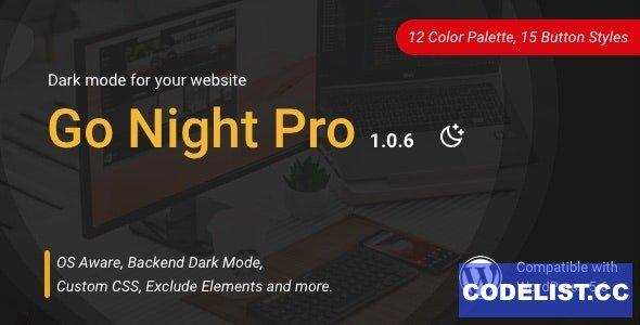 Go Night Pro v1.0.6 - Dark Mode / Night Mode WordPress Plugin