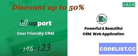 Upport CRM v2.1.0 - Laravel CRM - Open Source CRM Web Application