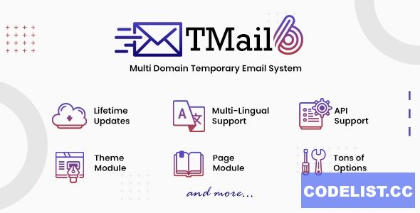 TMail v6.5 - Multi Domain Temporary Email System - nulled