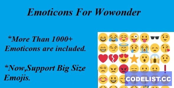 Emoticons For Wowonder - 15 April 2021