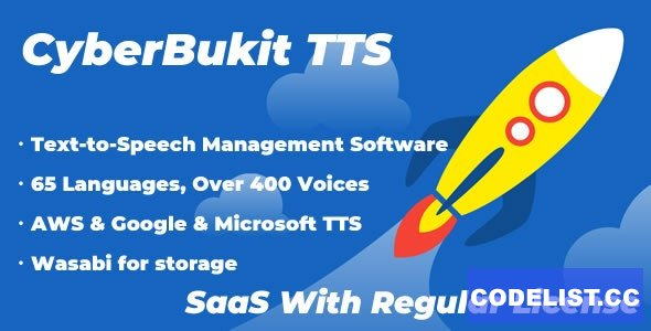 CyberBukit TTS v1.0.5 - Text to Speech - SaaS Ready - nulled