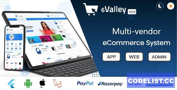 6valley Multi-Vendor E-commerce v2.1 - Complete eCommerce Mobile App, Web and Admin Panel
