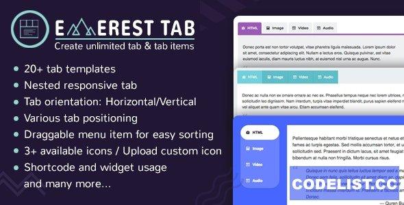 Everest Tab v1.1.8 - Responsive Tab Plugin For WordPress