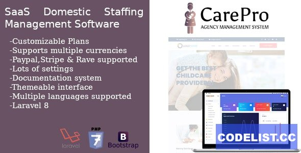 CarePro - SaaS Domestic Staffing Agency Management System (14 May 2021)