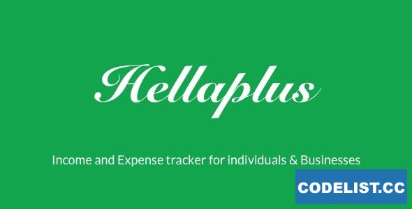 Hellaplus v1.3 - Income and Expense Tracker for Individuals & Businesses
