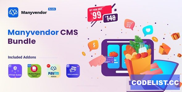 Manyvendor v1.0 - eCommerce & Multi-vendor CMS Bundle